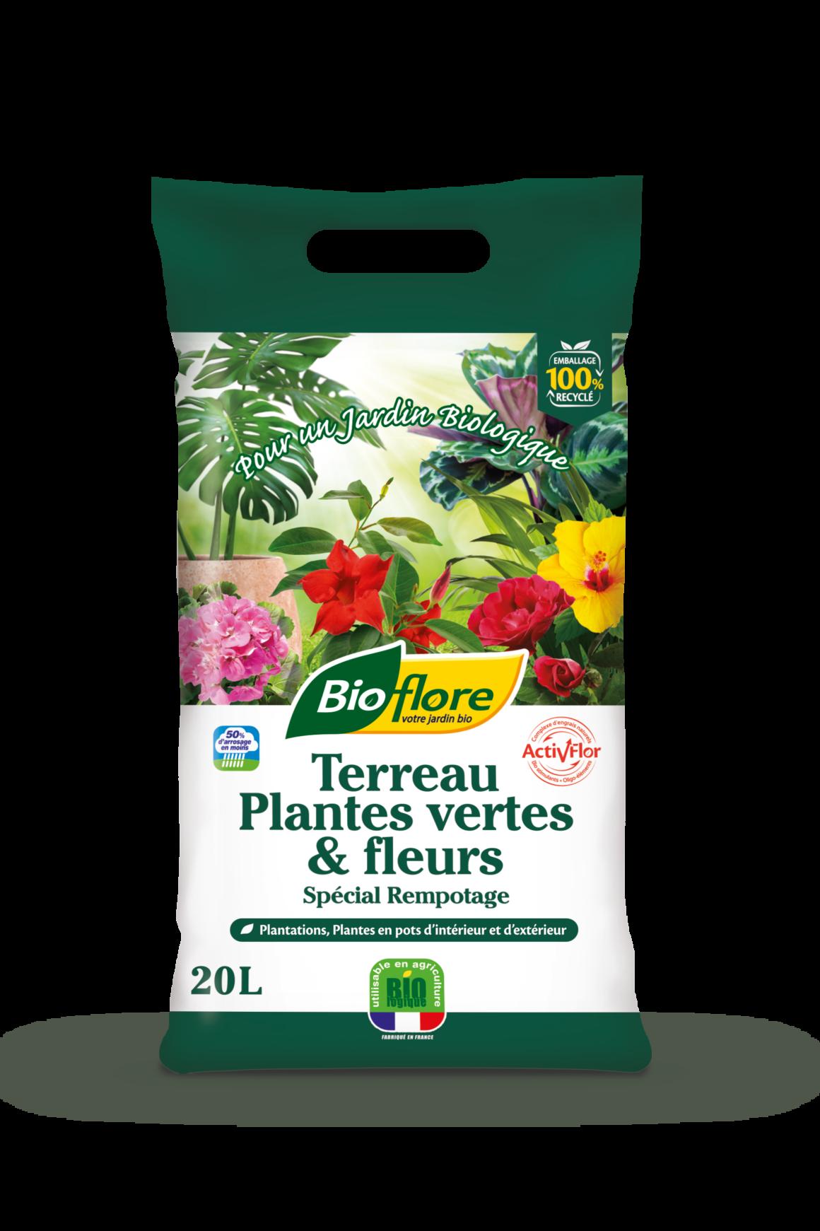 Terreau Plantes vertes & fleurs